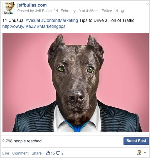 Facebook visual post