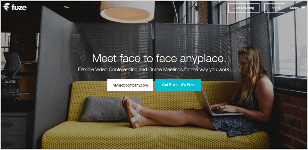 Fuze online meeting tool screenshot