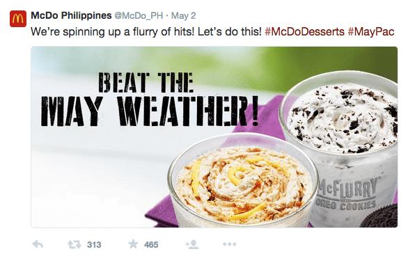 Mcdonalds hashtag image