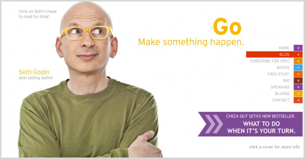 Seth Godin - short length blogs