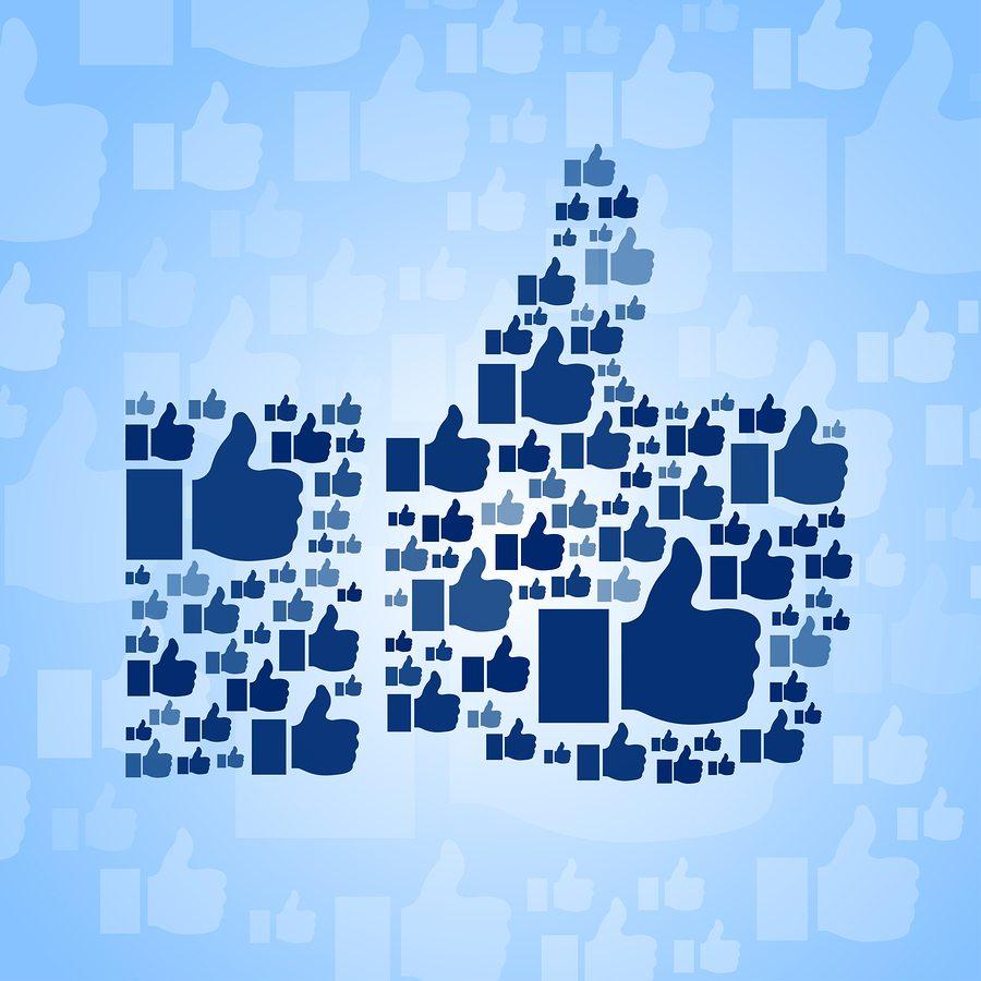 Like Symbol On Blue Background Jeffbullass Blog