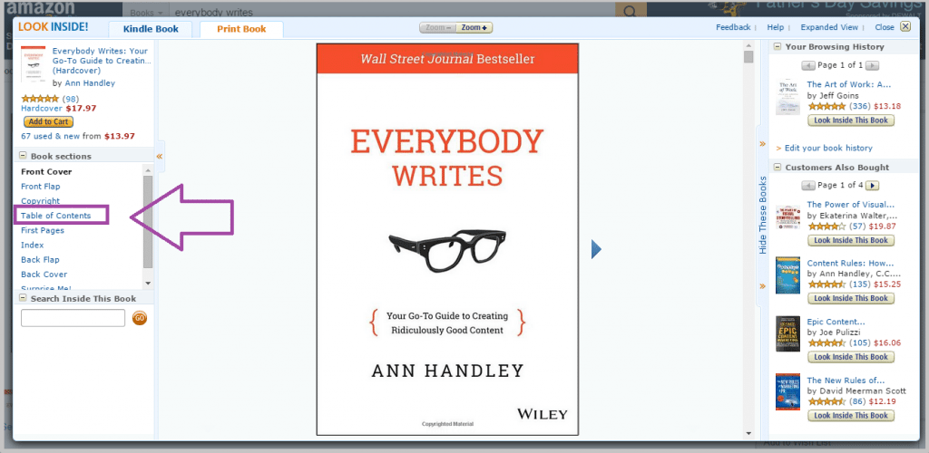Ann Handley eBook in Amazon for blog post ideas
