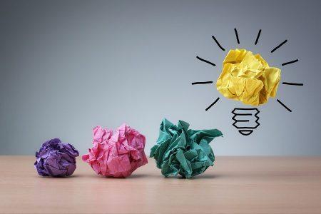 Blog post ideas - light bulb and paper scrunch