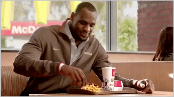 Lebron James social media endorsements