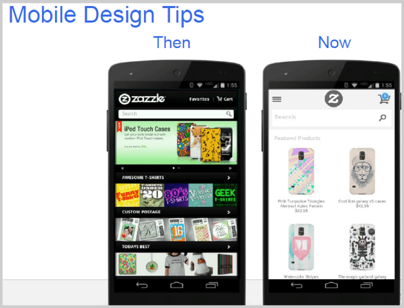 Mobile design tips for SEO