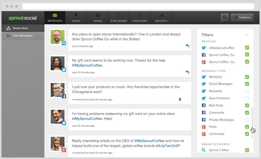 Sproutsocial screenshot for social media content