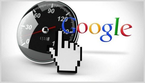 Google speedometer screenshot