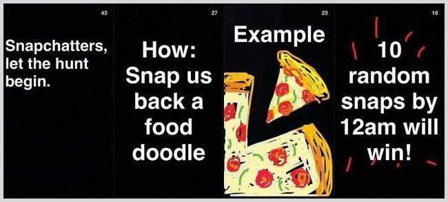 GrubHub SnapChat screenshot example