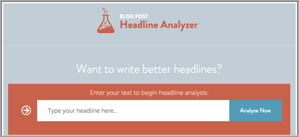 Headline Analyzer portal image for content creations apps