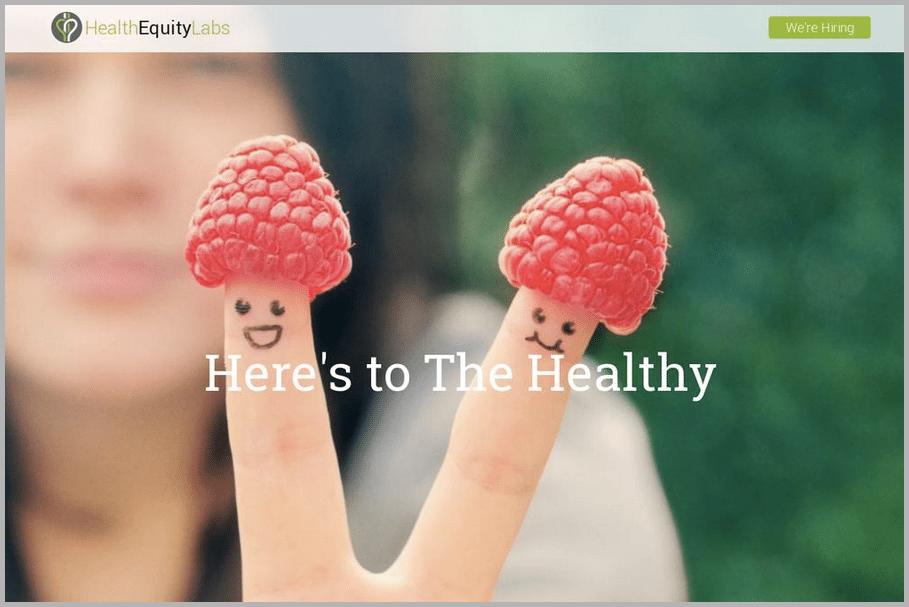 Health Equity Labs web design