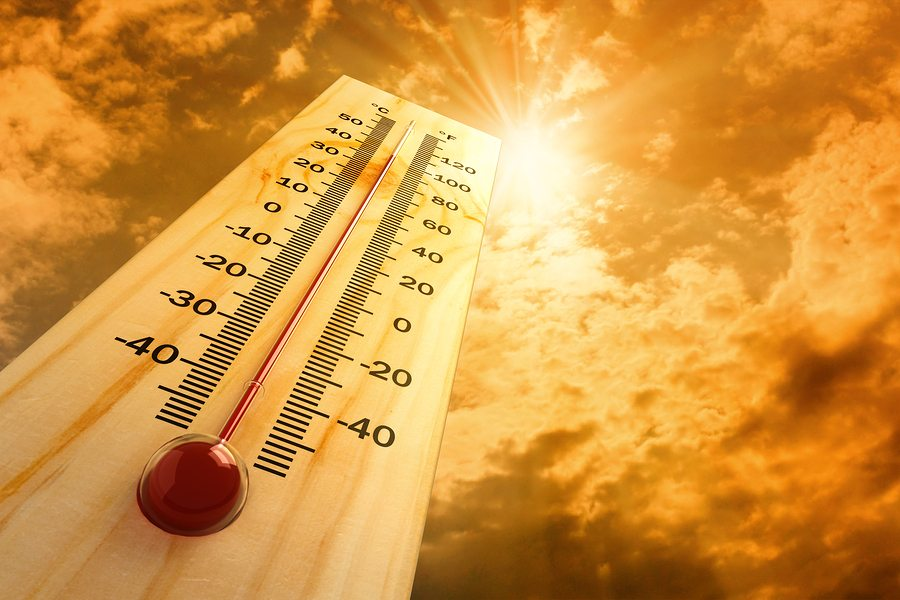 thermometer in the sky, the hot weather