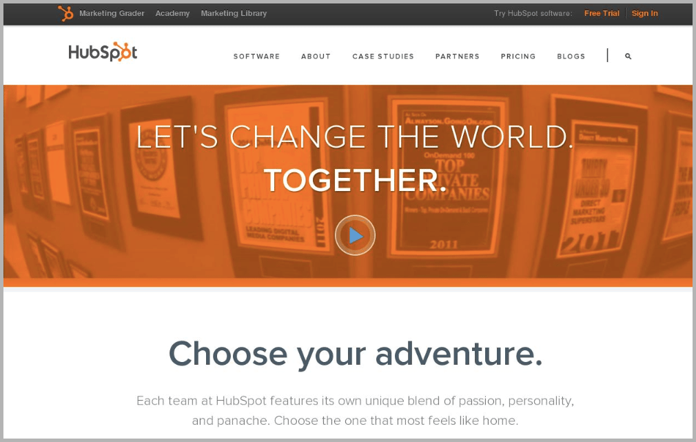 HubSpot web design example