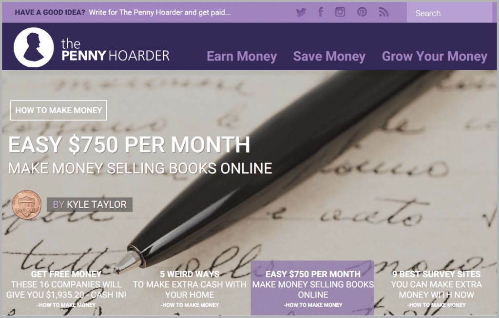 The Penny Hoarder - sites that will pay you