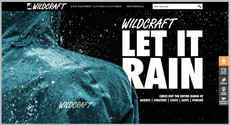 Wildcraft web design example
