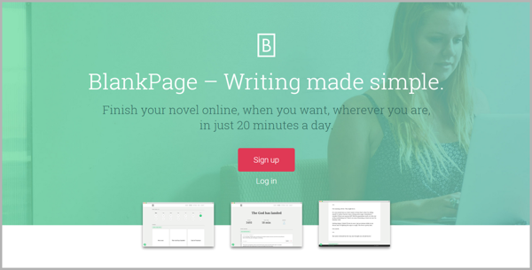 BlankPage - example of writing tools for content marketing