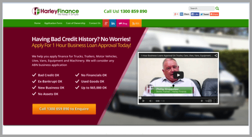 Headline from harely finance - Won't buy from your website