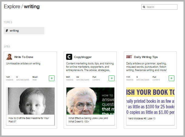 feedly - tools for content marketers