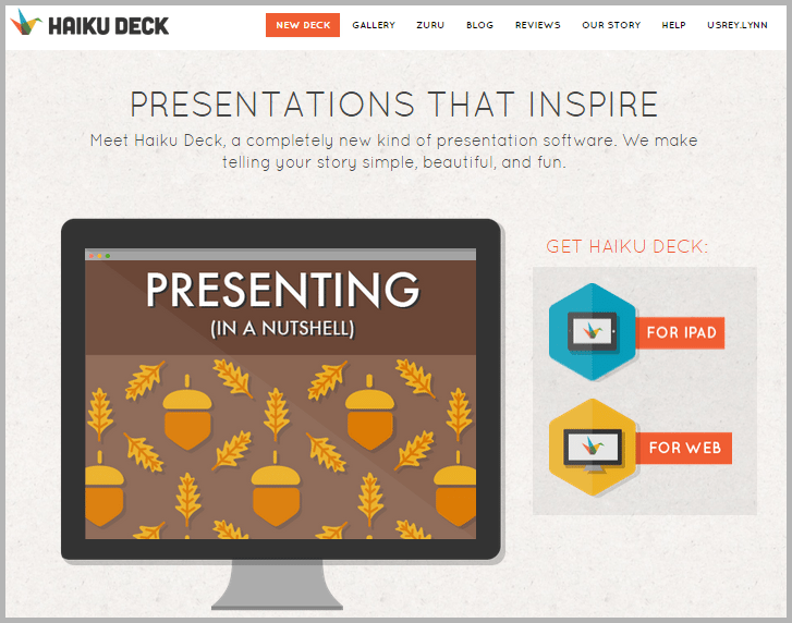 haikudeck - tools for content marketers