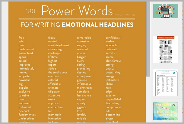 power_words - tools for content marketers