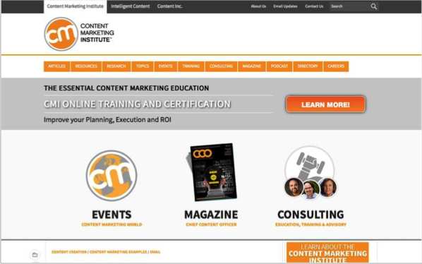 Content Marketing Institute - Top 50 Marketing Blogs