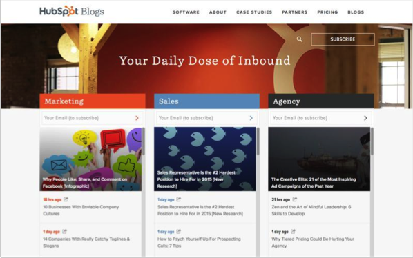 Hubspot 2 - Top 50 Marketing Blogs