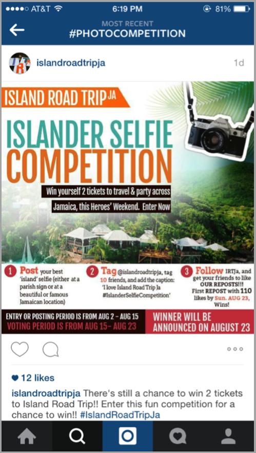 Island road tripja - launch your app on social media