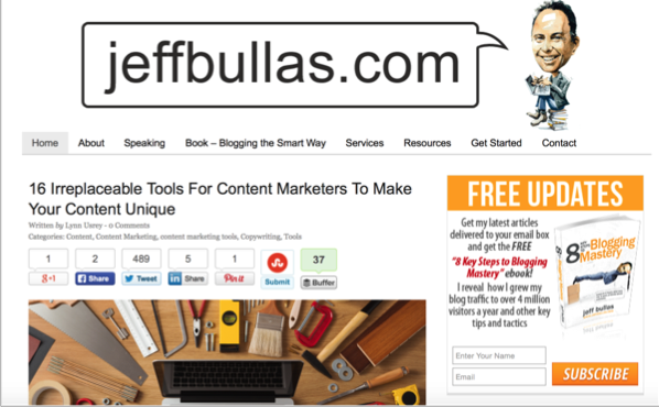 Jeff Bullas - Top 50 Marketing Blogs