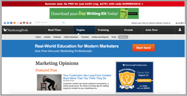 MarketingProfs - Top 50 Marketing Blogs