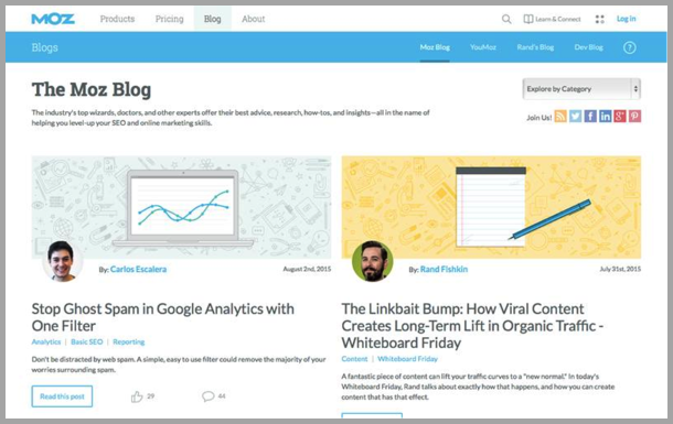 Moz - Top 50 Marketing Blogs