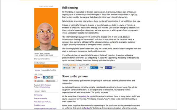 Seth Godin - Top 50 Marketing Blogs