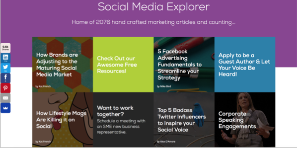 Social media explorer - Top 50 Marketing Blogs