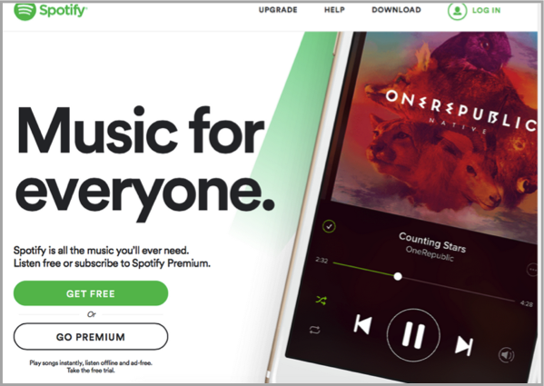 Spotify example - increase conversions