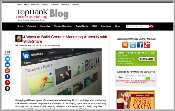 Top Rank - Top 50 Marketing Blogs