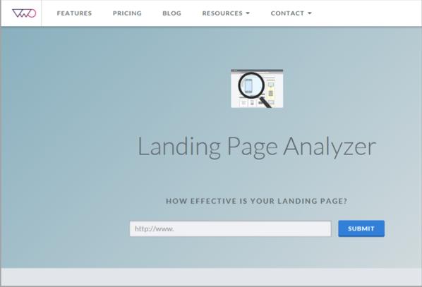 VWO - landing page