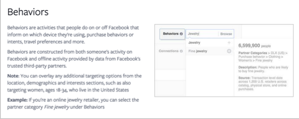 Behaviors example for how to promote your quizzes on Facebook