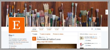 Etsy Twitter management tips