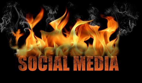 Social media content fire image