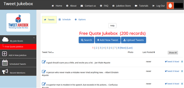 Tweet Jukebox - example of social media tool