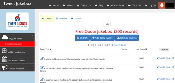 Tweet Jukebox - example of social media tool