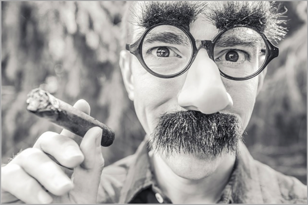 Big moustache and cigarette to make your content marketing go viral