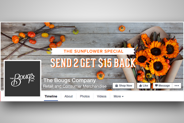 Bouqs - love your brand on Facebook
