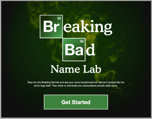 Breaking Bad - example of best Facebook marketing campaigns