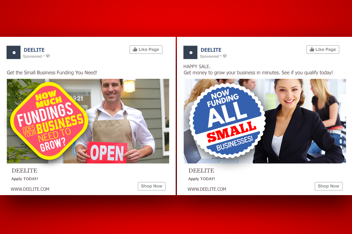 Dee lite example of Facebook ad design - Image 5