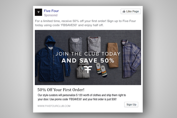 Five Four - love your brand on Facebook
