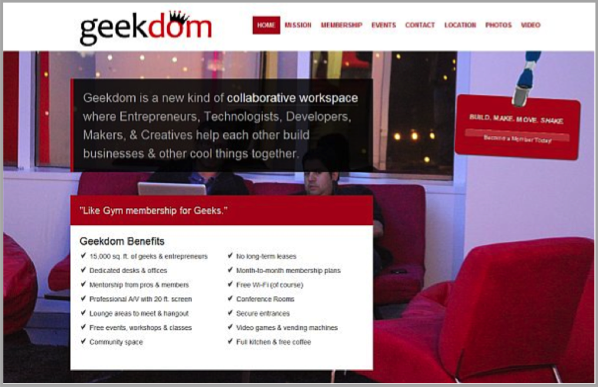 Geekdom example of SEO campaign