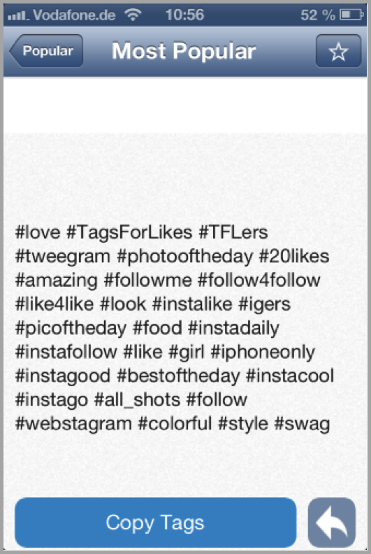 Popular hashtags - get more instagram followers
