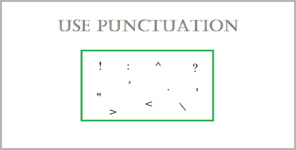 Punctuation for writing the perfect blog post