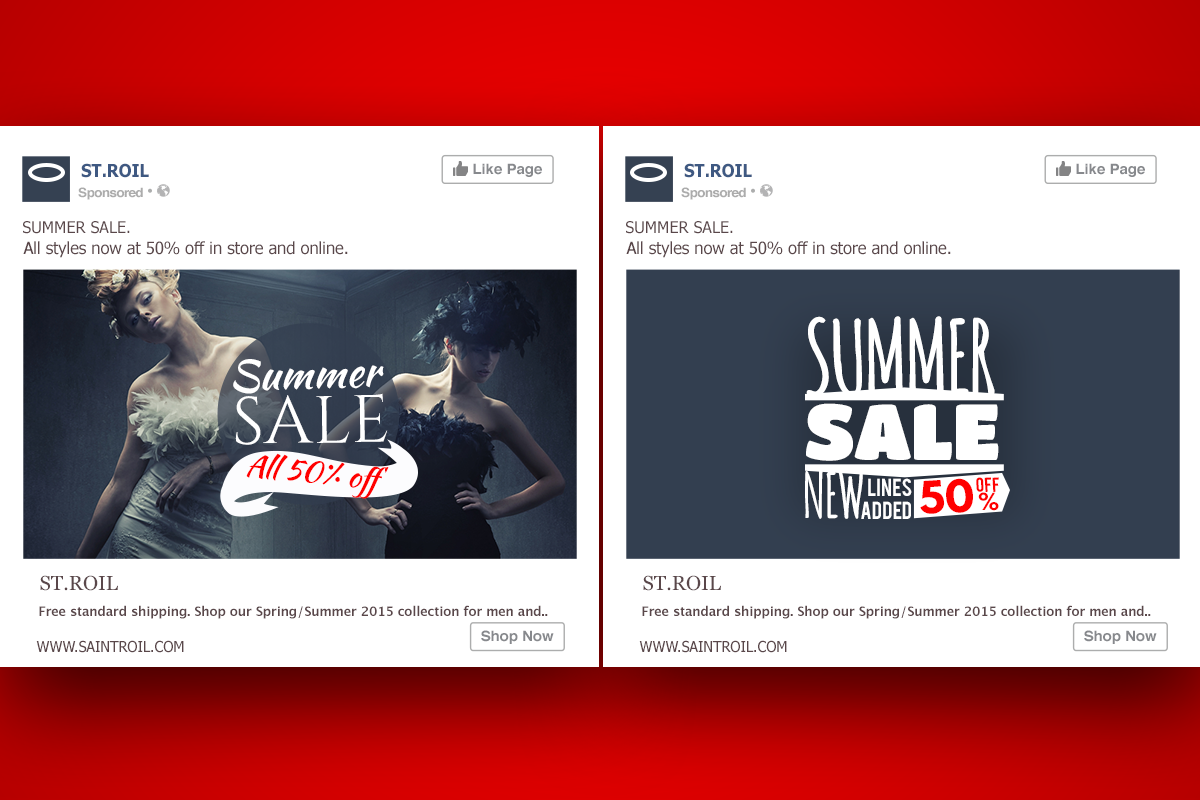 St Roil example of Facebook ad design - Image 1A