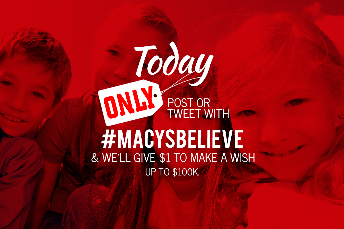Macys - christmas spirit to your social media