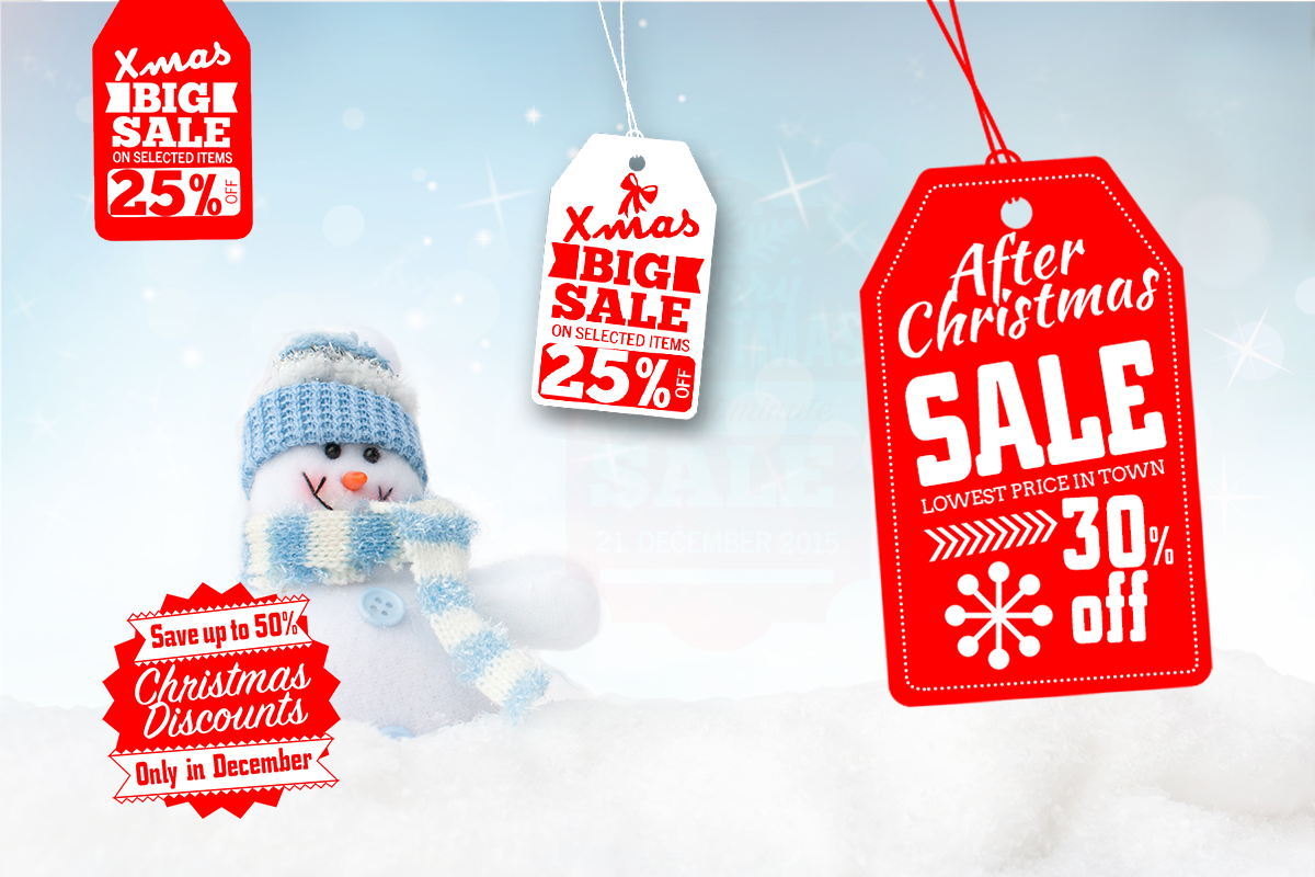 Sale -  christmas spirit to your social media